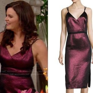 Cinq A Sept Metallic Soleil Dress
